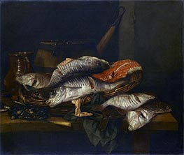 Abraham Beyeren | Still Life with Fish, c.1650/70 | Giclée Canvas Print