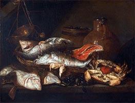 Abraham Beyeren | Still Life with Fish, undated | Giclée Canvas Print