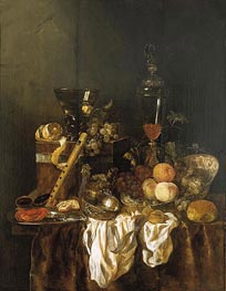 Abraham Beyeren | Still Life with Fruit and Sumptuous Objects | Giclée Canvas Print