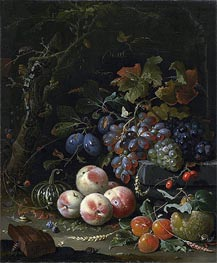 Abraham Mignon | Still Life with Fruits, Foliage and Insects, c.1669 | Giclée Canvas Print
