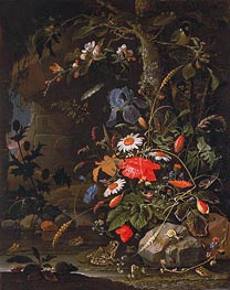 Woodland Still Life, undated by Abraham Mignon | Giclée Canvas Print