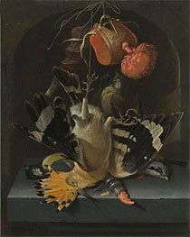 Still Life with a Hoopoe, undated by Abraham Mignon | Giclée Canvas Print