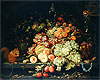 Mignon - Still Life with Fruit, Squirrel and Goldfinch - Art Print / Posters