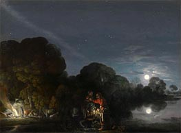 Adam Elsheimer | The Flight to Egypt, 1609 | Giclée Canvas Print