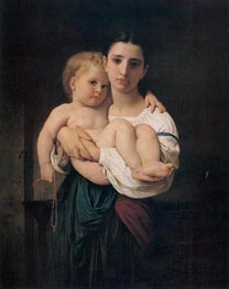 Bouguereau | The Elder Sister | Giclée Canvas Print