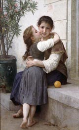 Bouguereau | A Little Coaxing | Giclée Canvas Print