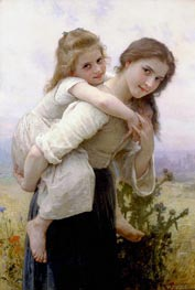 Bouguereau | Not too Much to Carry | Giclée Canvas Print