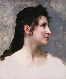 Bouguereau | Study of a Girl's Head | Giclée Canvas Print