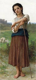 Bouguereau | Young Shepherdess, 1887 | Giclée Canvas Print
