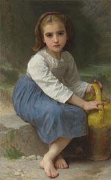 Bouguereau | Girl with Pitcher, 1885 | Giclée Canvas Print