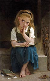 Bouguereau | Difficult Lesson, 1880 | Giclée Canvas Print