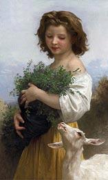 Bouguereau | Little Esmeralda, 1874 | Giclée Canvas Print