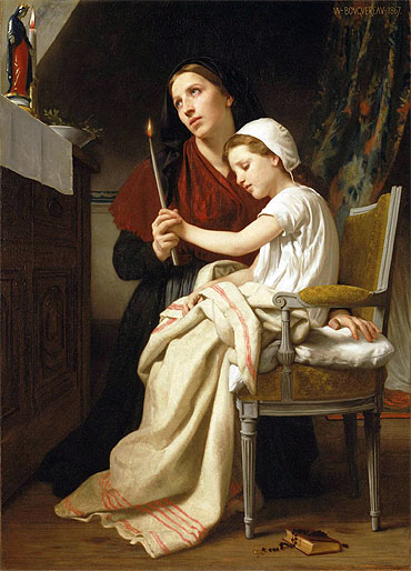 The Thank Offering, 1867 | Bouguereau | Painting Reproduction