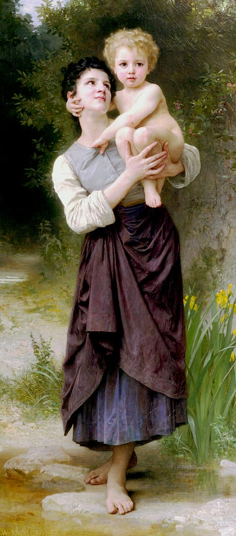 Brother and Sister, 1887 | Bouguereau | Painting Reproduction
