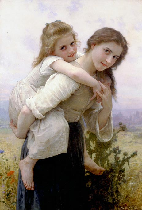 Not too Much to Carry, 1895 | Bouguereau | Painting Reproduction