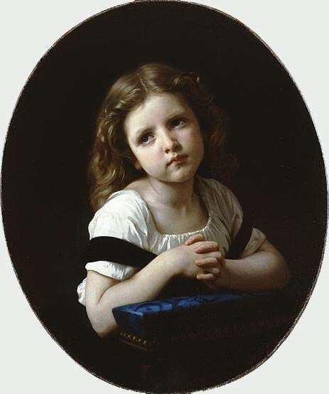 The Prayer, 1865 | Bouguereau | Painting Reproduction