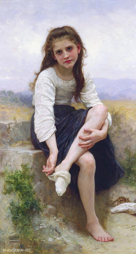 Before the Bath, 1900 | Bouguereau | Painting Reproduction