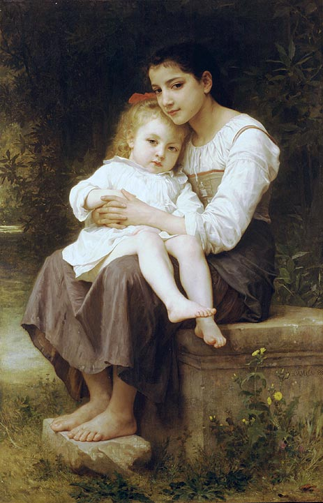 Big Sis', 1886   Bouguereau   Painting Reproduction