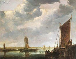 Aelbert Cuyp | The Ferry Boat (The River Crossing) | Giclée Canvas Print
