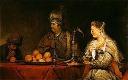 Aert de Gelder | Haman and Ahasuerus at the Feast of Esther, undated | Giclée Canvas Print