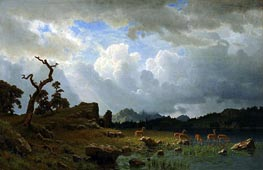 Bierstadt | Thunderstorm in the Rocky Mountains | Giclée Canvas Print