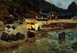 Bierstadt | Fishing Boats at Capri | Giclée Canvas Print