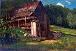 Bierstadt | Swiss Mountain Cabin, c.1872 | Giclée Canvas Print