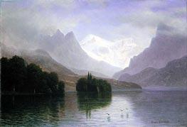 Bierstadt | Mountain Scene, c.1880/90 | Giclée Canvas Print