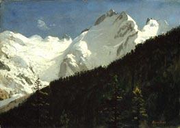 Bierstadt | Piz Bernina, Switzerland, undated | Giclée Canvas Print