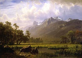 Bierstadt | The Sierras Near Lake Tahoe, California, 1865 | Giclée Canvas Print
