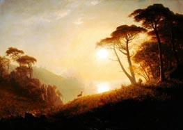 Bierstadt | Scene in Yosemite Valley, c.1864/74 | Giclée Canvas Print