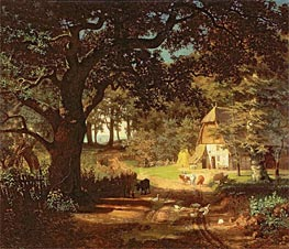 Bierstadt | The House in the Woods, undated | Giclée Canvas Print