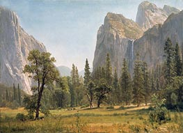 Bierstadt | Bridal Veil Falls, Yosemite Valley, California, c.1871/73 | Giclée Canvas Print