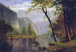 Bierstadt | On the Merced River, 1863 | Giclée Canvas Print
