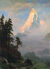 Bierstadt | Sunrise on the Matterhorn, a.1875 | Giclée Canvas Print