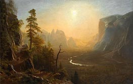 Bierstadt | Yosemite Valley, Glacier Point Trail, c.1873 | Giclée Canvas Print