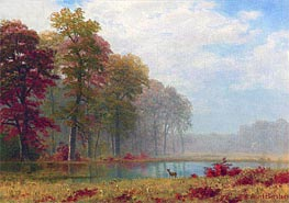 Bierstadt | Autumn on the River, undated | Giclée Canvas Print