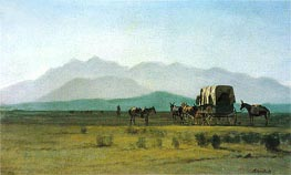 Bierstadt | Surveyor's Wagon in the Rockies, 1859 | Giclée Canvas Print