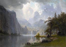 Bierstadt | In the Mountains, 1867 | Giclée Canvas Print