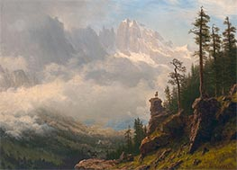 Bierstadt | Sierra Nevada Mountains in California, undated | Giclée Canvas Print