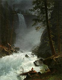 Bierstadt | A Stream in the Rocky Mountains | Giclée Canvas Print
