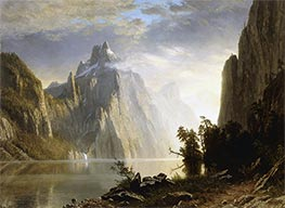 Bierstadt | A Lake in the Sierra Nevada | Giclée Canvas Print