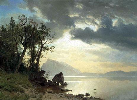 Lake Tahoe, California, 1867 | Bierstadt | Painting Reproduction