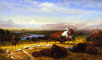 The Last of the Buffalo, 1888 | Bierstadt | Painting Reproduction
