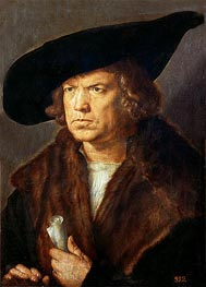 Portrait of an Unknown Man, 1521 by Durer | Giclée Canvas Print