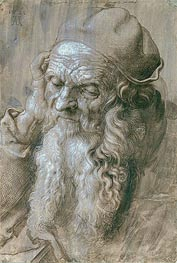 Durer | Portrait of an Old Man (Study for a Saint), 1521 | Giclée Paper Print