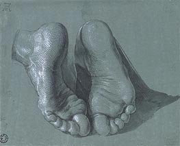 Durer | Study of Two Feet, c.1508 | Giclée Paper Print