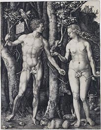 Durer | Adam and Eve, 1504 | Giclée Paper Print