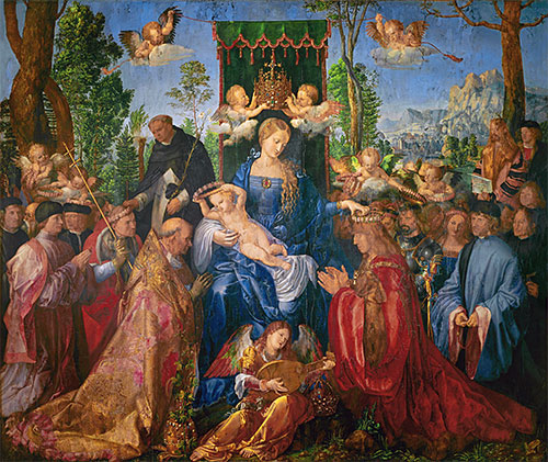 Garland of Roses Altarpiece, 1506 | Durer | Painting Reproduction