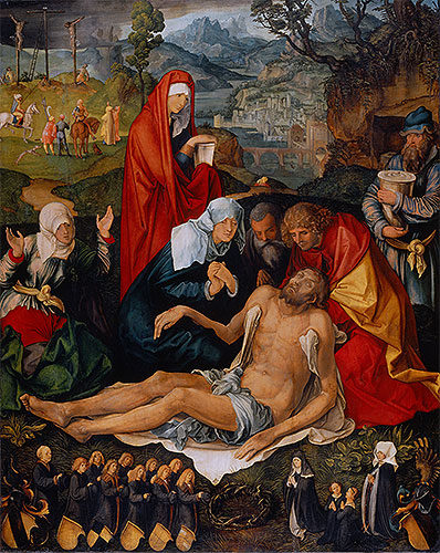 Lamentation over the Dead Christ, c.1498 | Durer | Painting Reproduction